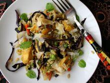 Orientalne risotto z kurczakiem i kapustą czerwoną