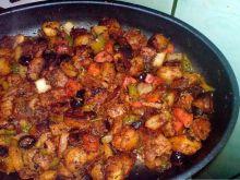 Orientalne warzywa z patelni