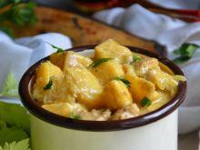 Orientalny gulasz wieprzowy z plantanem