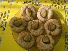 Orkiszowe ciasteczka ze śliwką