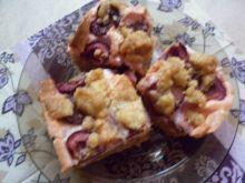 Orkiszowo - gryczane ciasto z owocami