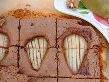 Orzechowe brownie z gruszkami