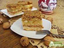 Orzechowo-jabłkowe ciasto