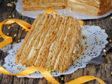 Orzechowo -miodowy tort