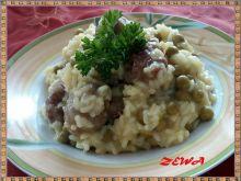 Orzeszki mięsne ala risotto