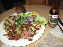 Orzeszki z mięsa mielonego w sosie Tao