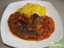 Osso bucco z szafranowym risotto