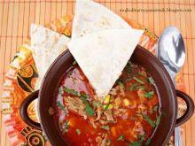 Ostra zupa tex-mex z mięsem mielonym