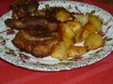 Ostre żeberka pieczone z ziemniaczkami