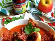 Ostro słodka pomidorówka z kuleczkami