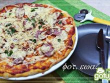 Oszczędna pizza na cienkim cieście