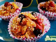 Owocowo miodowe ciasteczka z płatków