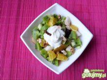 Owocowy deser z serkiem waniliowym