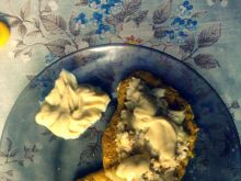 Owsiane bliny z pastą z makreli