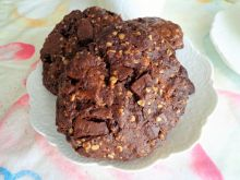 Owsiane ciasteczka z czekoladą bez cukru