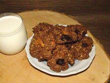 Owsiane kakaowe ciasteczka z mieszanką studencką
