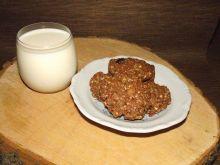 Owsiane kakaowe ciasteczka ze skórką pomarańczową