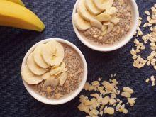 Owsianka cappuccino z chia i bananem