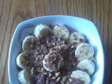 Owsianka z nutellą i bananem