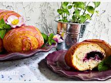 Pączki pieczone z borówkami i jagodami