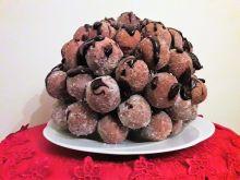 Pączusie serowo-migdałowe z dodatkiem czekolady
