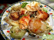 Paella rybna z kalarepką