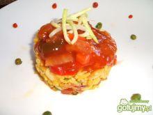 Paella z sosem słodko-kwaśnym