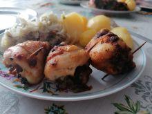 Pałeczki z kurczaka faszerowane pieczarkami