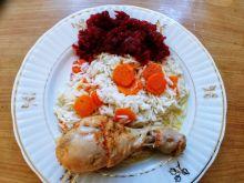 Pałki z kurczaka duszone z marchewką