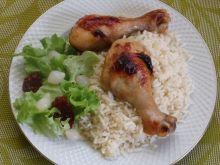 Pałki kurczaka na cytrynowym ryżu