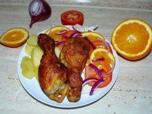 Pałki z kurczaka w cieście pomarańczowym