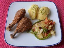 Pałki z kurczaka w pszennych otrębach