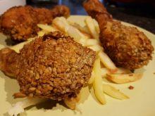 Pałki z kurczaka w słonecznikowej panierce