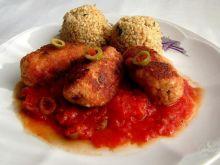 Paluszki mięsno serowe w sosie śródziemn