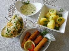 Paluszki rybne z sosem serowo-ziołowym