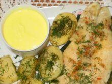 Panga z parowaru z sosem cytrynowym