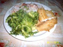 Panga z ryżem i brokułami