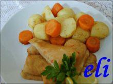 Panga z warzywami z parowara Eli