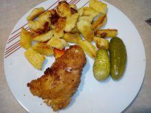 Panierowana pierś z kurczaka z serem