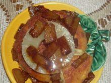 Panierowany Camembert z ananasem