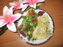 papiloty z pangi z sałatą
