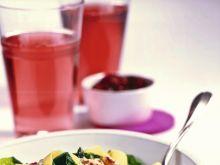 Pappardelle z sosem żurawinowo-orzechowym
