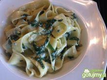 Pappardelle ze szpinakiem i gorgonzolą