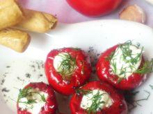 Papryczki w oleju nadziewane serem