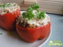 Papryka faszerowana soczewicą i ryżem