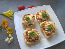 Papryka grillowana z kaszą owsianą i bakłażanem