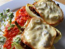 Papryka z grzybami i kaszą gryczaną