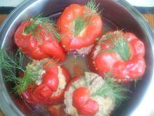 Papryka z mięsem i grzybami