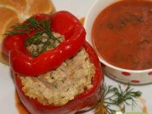 Papryka z mięsem i kaszą jaglaną