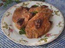 Paprykowa karkówka w sosie własnym z grzybami